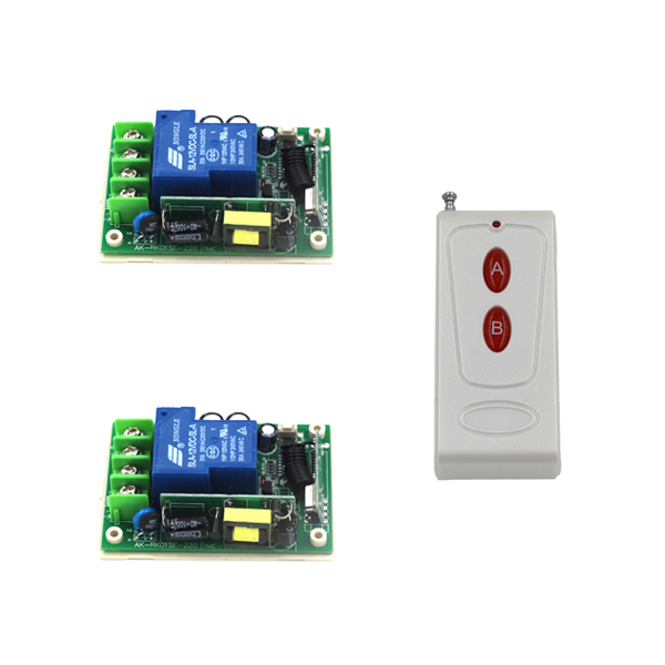High Quality AC 85V-250V 30A 1CH RF Wireless Relay Remote Control Switch 315 MHZ 433 MHZ 1 Transmitter 2 Receiver SKU: 5492 ac 250v 20a normal close 60c temperature control switch bimetal thermostat