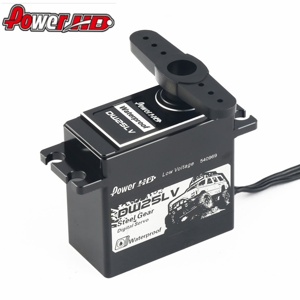 WP-23KG/DW-25LV Waterproof Metal Gear Digital Coreless Servo with 25kg High Torque for 1/10 RC Remote Control Car Boat Toy Model