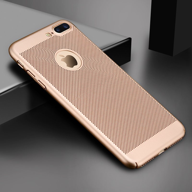 HTB1sPkkdj3z9KJjy0Fmq6xiwXXak - Ultra Slim Phone Case For iPhone 6 6s 7 8 Plus Hollow Heat Dissipation Cases Hard PC For iPhone 5 5S SE Back Cover Coque X S MAX