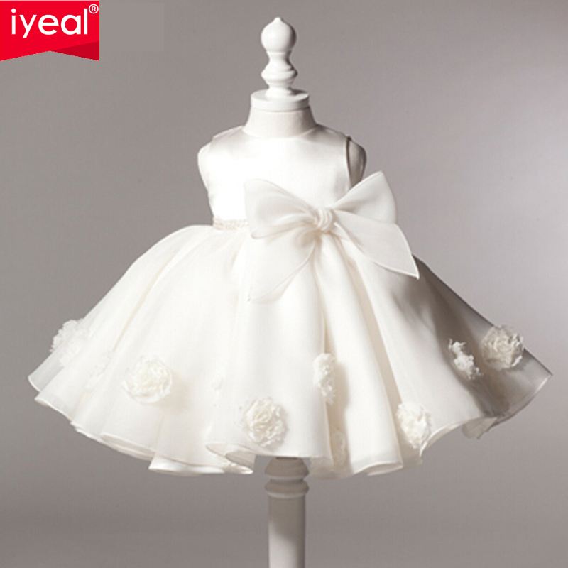 IYEAL New Arrival Little Girl Ball Gown Scoop Glitz Pageant Flower Girls Dresses For Children Wedding First Holy Communion Gown hot sale custom cheap pageant dress for little girls lace beaded corset glitz tulle flower girl dresses first communion gown