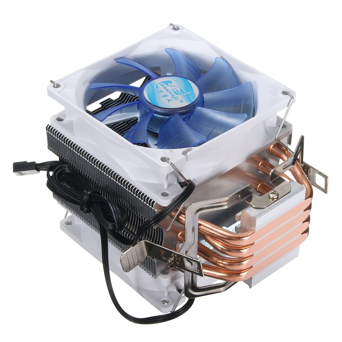 Newest 12V Dual CPU Cooler Fan Quiet Blue LED Light 92x92x25mm 3pin Powerful Fan for Intel LGA775/1156/1155 for AMD AM2/3 accelero xtreme iii vga cooler 3 quiet 92mm pwm fans for amd