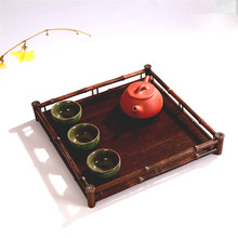 Antique bamboo cup set dry tea table tray storage disc of pure natural displaying and serveing