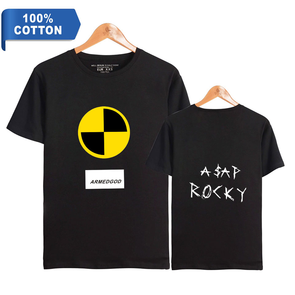 ASAP ROCKY Men T Shirt Summer Hip Hop Oversized T Shirt Streetwear 100% Premium Cotton High Quality Short Sleeve Tee Wholesale