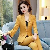Women Business Pantsuit Office Ladies Work Formal Pant Suit Plus Size Trouser Suit Womens Blazer and Pants 2 Piece Set Outfits