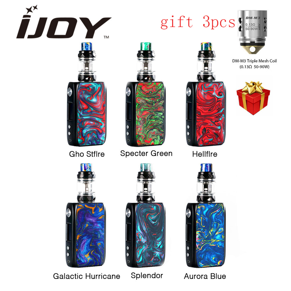Nuovo Originale IJOY Shogun Univ 180 W TC Kit con Shogun University TC MOD Box Katana Subohm Serbatoio 5.5 ml e-Cig Kit Vs Capitano PD1865