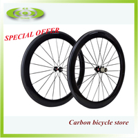 Factory sale 700c wheelset carbon 60mm clincher wheels for road bicycle in promotion