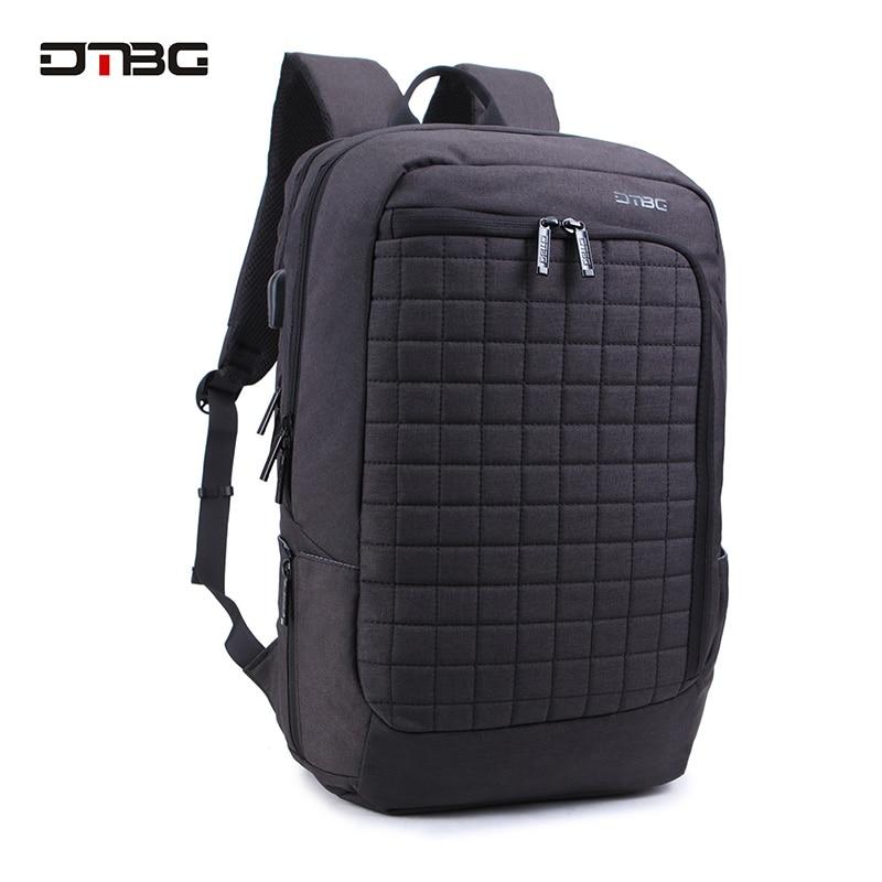 17.3 Inch Laptop Backpack Zipper Plaid Simple Slim Back Pack Men Women Casual Large Capacity Waterproof Travel Bags School Sac casual waterproof simple men backpack
