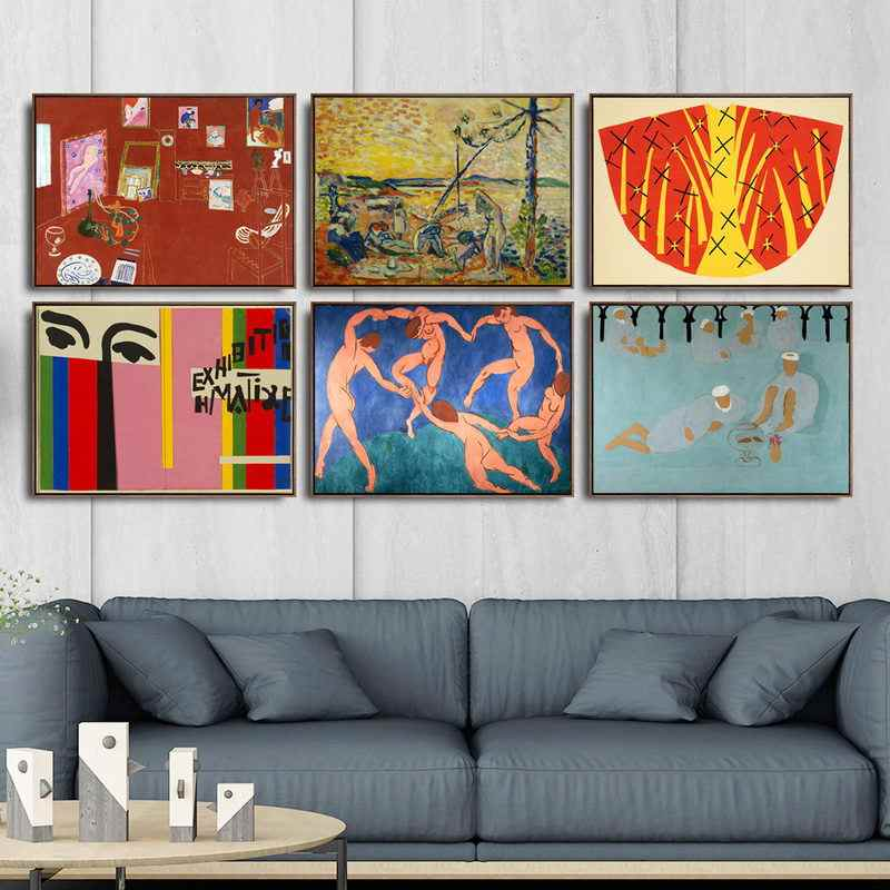 Home Decoration Art Wall Pictures Fro Living Room Poster Print Canvas Paintings French Henri Matisse
