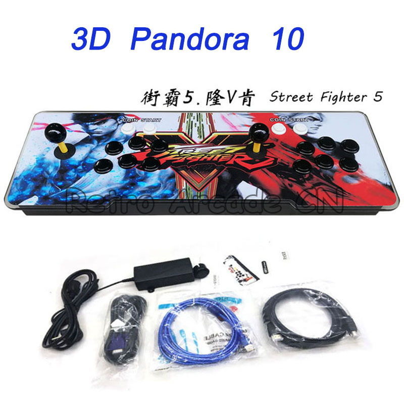 3D Pandora 10 Arcade Game LED Console 2263 in 1 with joystick button for Home TV Support HDMI and VGA Output Pandora 73D Pandora 10 Arcade Game LED Console 2263 in 1 with joystick button for Home TV Support HDMI and VGA Output Pandora 7