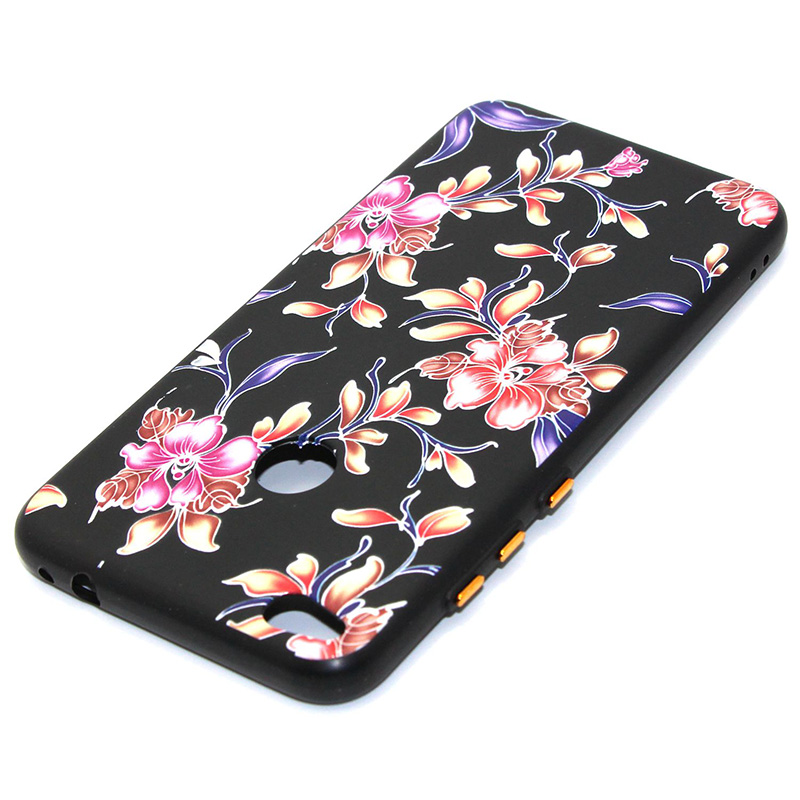 3D Relief flower silicone case huawei p8 lite 2017 honor 8 lite (35)
