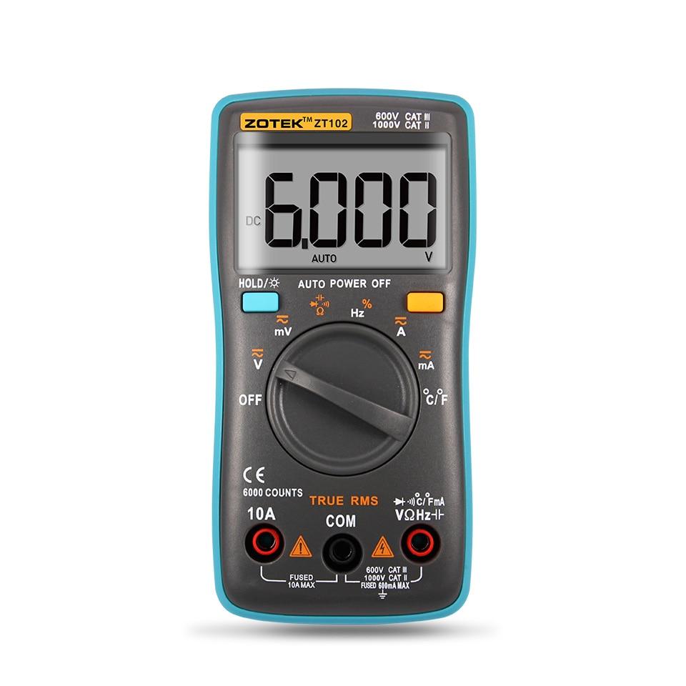 Automotive Digital Multimeter : Auto digital multimeter counts backlight ac dc