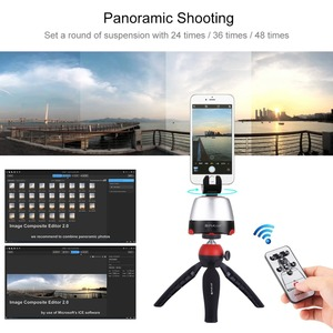 Image 4 - PULUZ Electronic Tripod 360 Degree Rotating Panoramic Tripod Head w/h Remote Controller For GoPro Iphone Smartphone DSLR Cameras