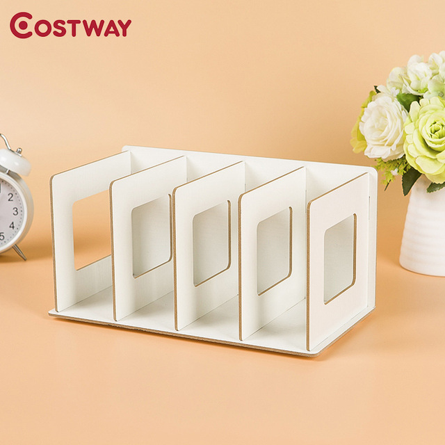 costway simple bookshelves diy cd racks wooden dvd racks dormitory bedroom storage shelves bookcase boekenkast librero