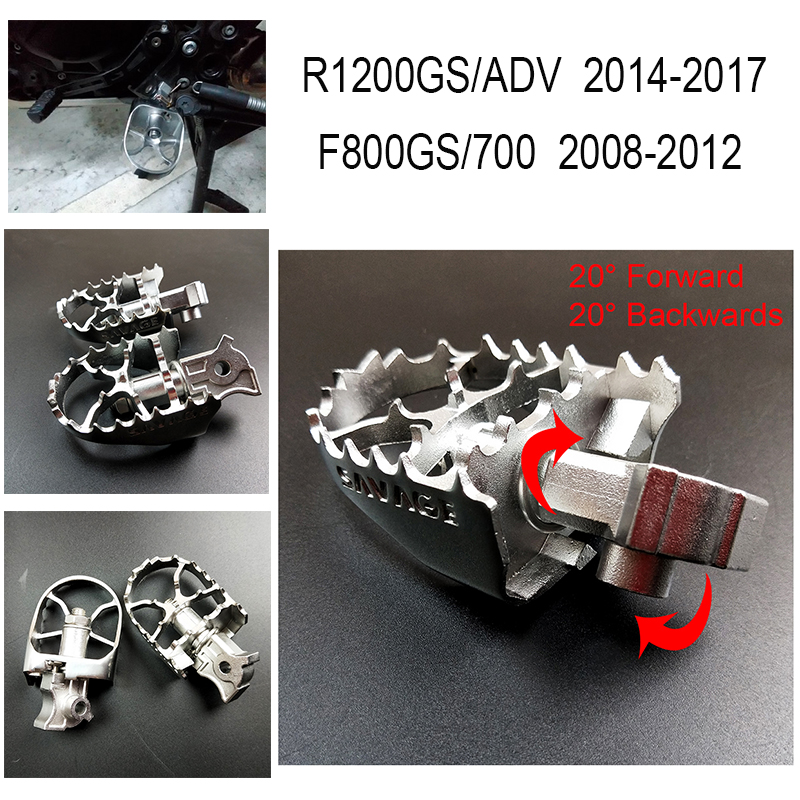 Stainless Steel Front Foot pegs Rest Pegs Rests For BMW R1200GS//ADV,R1150GS//ADV