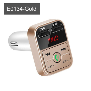 Car Bluetooth 5.0 FM Transmitter Wireless Handsfree Audio Receiver and Dual USB Fast Charger