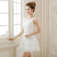 Short Lace Evening Dresses 2017 New Arrival White Bride Gown Ball Prom Party Homecoming/Graduation Sweet Princess Formal Dress