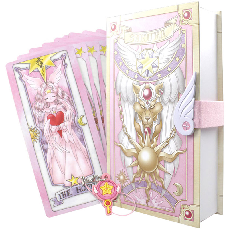Novelty & Special Use Cardcaptor Sakura Card Cosplay Card Captor Kinomoto Tarot Book With Clow Cards Magic Book Set In Box Prop Gift Phone Chain
