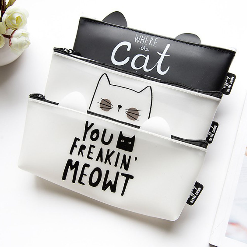 Fashion Sweet Silicone Cat Coin Bag Case Women Lady's Hand Coin Purse Bag Wallet Coin Pouch