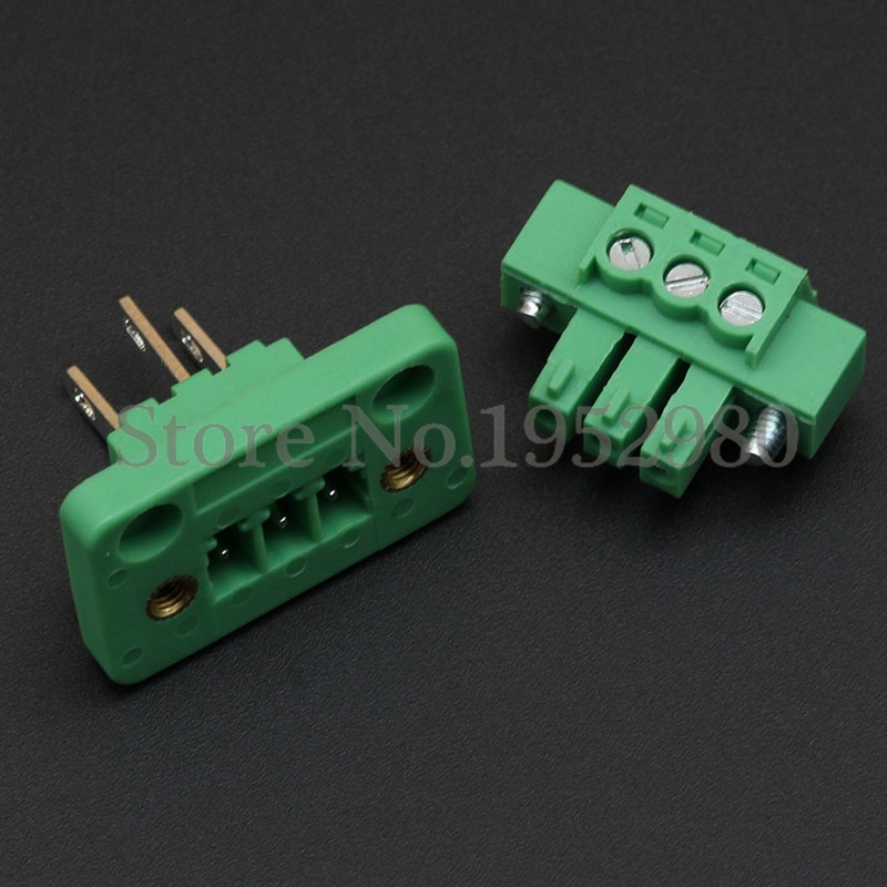10 Set 3.81MM Screw Pluggable Terminal Blocks Connector KF15CDGV-3.81 with Flange 2/3/4/5/6/7/8/9/10 Pin Way Copper Panel Mount 1788208[pluggable terminal blocks umstbvk 2 5 11 5 0] mr li