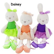 1PCS 33cm Colorful Baby Soft Lace Plush Toy Brinquedos Rabbit Bunny Sleeping Mate Stuffed & Animals Kids Toys MRT03