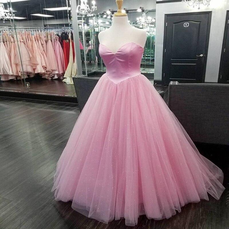 Jolies robes de bal roses 2019 robe de bal douce 15 robe chérie décolleté scintillant Bling longues robes de reconstitution historique pour dame Junior adolescent