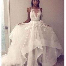 SoDigne Beach Lace Elegant Informal Wedding Dresses 2019 Ope