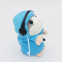 2017 Talking Hamster Mouse Pet Plush Toy Lovely Talking Sound Record Hamster Educational Gift Fun Toy