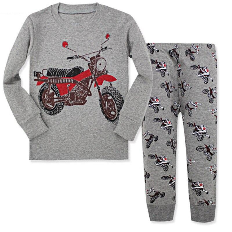 boys cartoon long-sleeved pajamas Boy clothes children cotton baby set