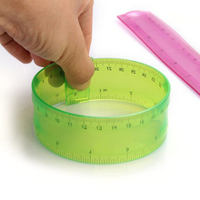 1 PCS Plastic Ruler 30cm Flexible Cute Easy To Break Students And Colorful Rule Office Supply