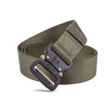 Army Tactical Belt Military Nylon Belts Men Training Metal Automatic Buckle Hunting Accessories 125cm