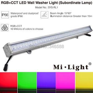 Светодиодный светильник Mi, 24 Вт, RGB + CCT, светодиодный светильник для мытья стен, DC24V, подчиненный светильник, IP66, водонепроницаемый, Drived с помо...