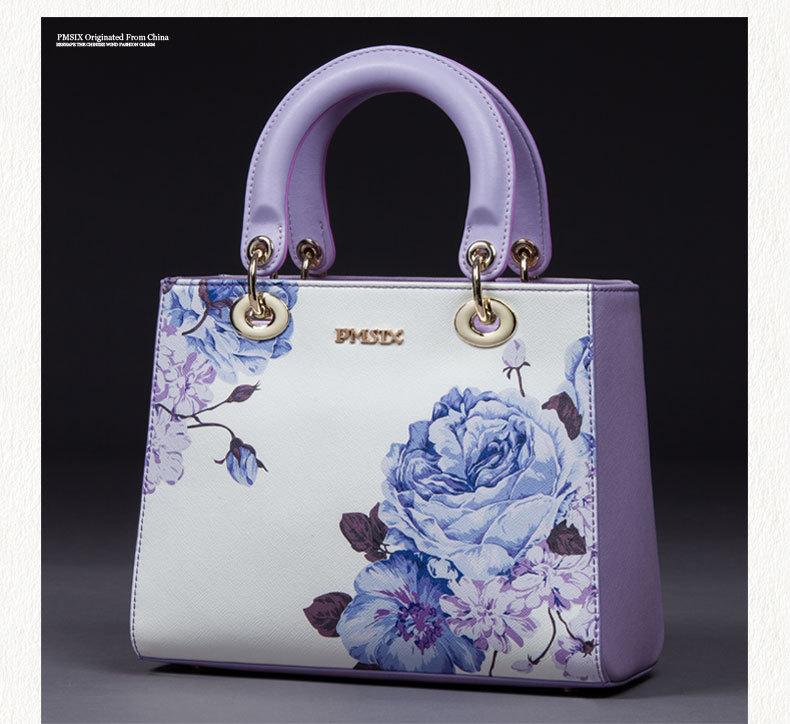 2015 summer and autumn brand bags leather handbag lady fashion printed flowers shoulder bag Princess Diana bag Messenger Chinese2015 summer and autumn brand bags leather handbag lady fashion printed flowers shoulder bag Princess Diana bag Messenger Chinese
