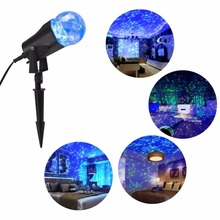 Waterproof Rotating LED Kaleidoscope Spotlight Light Projector for Festival Fireplace Swimming Pool Decorations