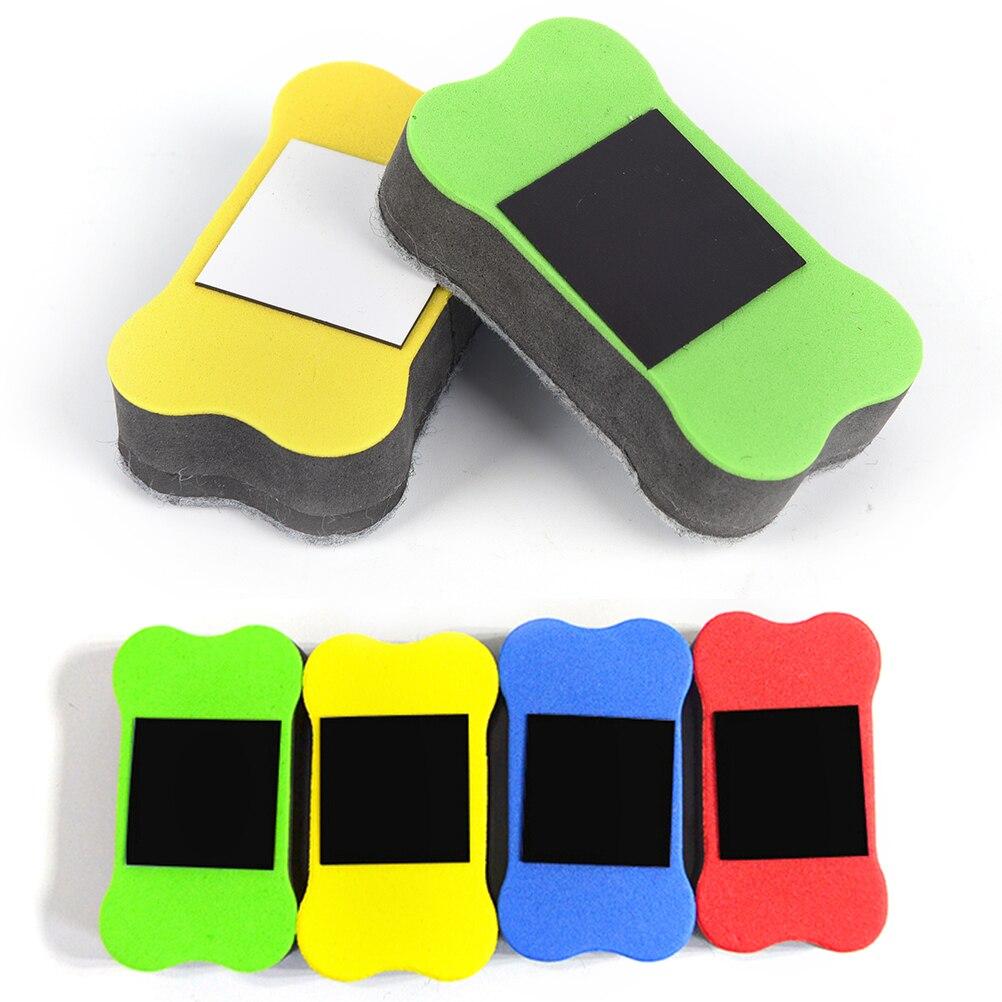 Obliging Magnetic Eraser Cleaner Blackboard Cleaner Bones Magnetic Whiteboard Eraser For Office School Stationery Supplies