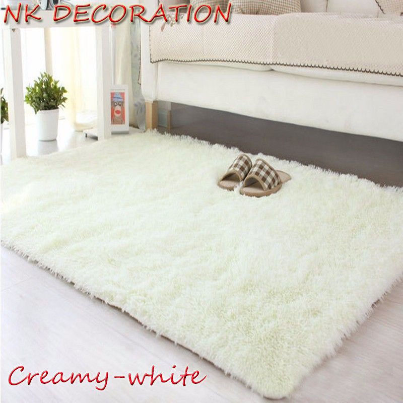 NK DECORATION 120*160cm Creamy white Carpet Bedroom Soft ...