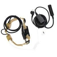 מכשיר הקשר Airsoft אלמנט ציד אוזניות טקטי שומר הראש צלף גרון מיקרופון + Tube אוזניות שנקבע מידלנד מכשיר הקשר אלן GXT G6 (1)
