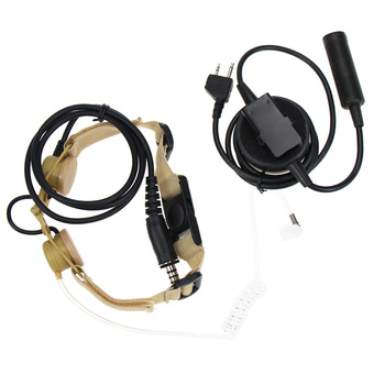Airsoft element tactical Headset Hunting Bodyguard Sniper Throat Mic + Tube Earphone Set For Midland Walkie Talkie Alan GXT G6