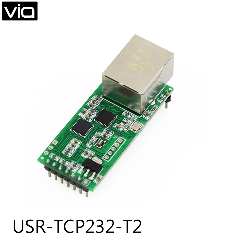 USR-TCP232-T2 Direct Factory Ethernet Module Network To Serial Port RJ45 To TTL Network Port USR-TCP232-T2 serial port to canopen 232 to canopen module development board compatible with zlg xgatecop10