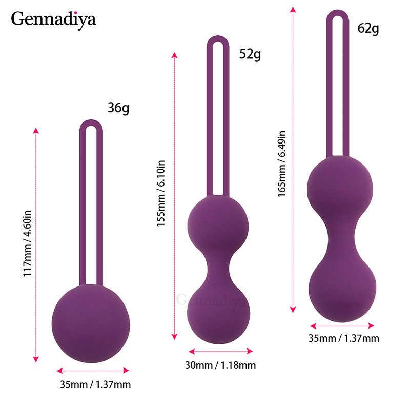 Medico Del Silicone Vibratore Palline di Kegel Esercizio Dispositivo di Serraggio Palle Sicuro Ben Wa Palla per le Donne Vaginale massager giocattolo Adulto