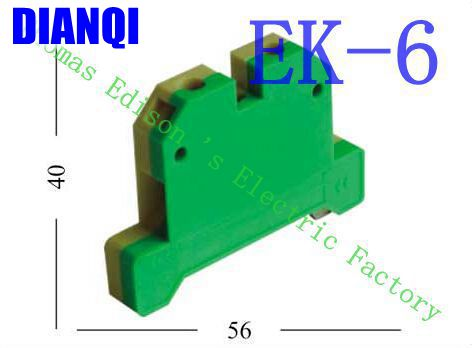 цена на EK6/35 EK-6/35 Terminal Block Terminal Connector/Cable Connector/Wire Connector/Splice 100PCS/Pack