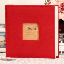 New DIY Writable Photo Album Storage Book Photos Insert Fabric Decoration Gift for Memory Baby Child Wedding Birthday
