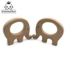 20pc diy madeira personalizado pendente orgânica faia elefante de madeira natural artesanal bebê mordedor de madeira para o bebê dentição enfermagem