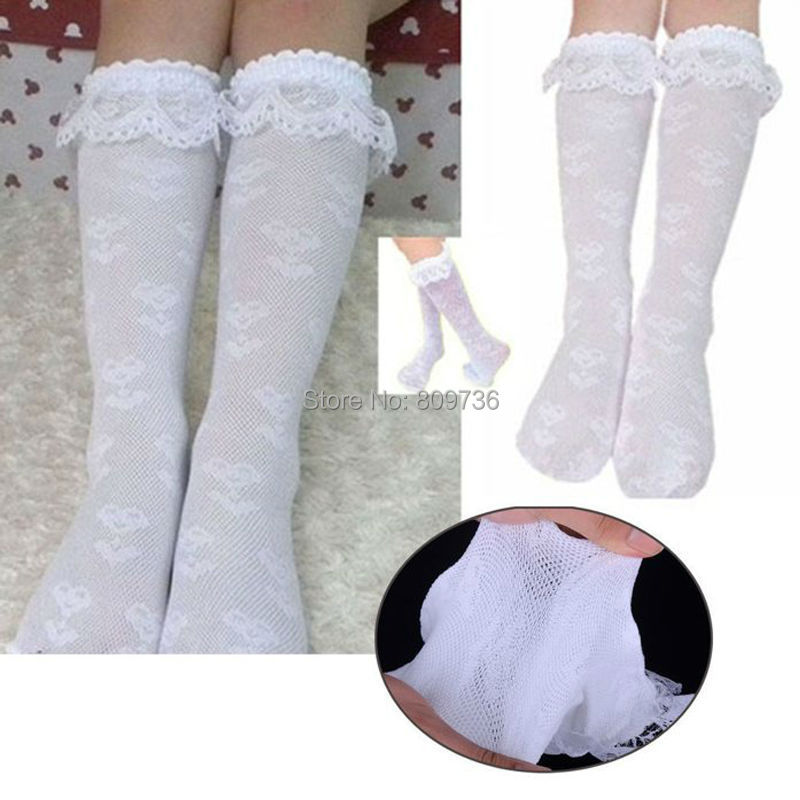 83b7743f546c8 US $1.69 |Toddlers Kids Girls Trim Frilly Ankle White Lace Socks School  High Knee Socks with White Ruffle Lace 3 7 years Drop Shipping-in Socks  from ...