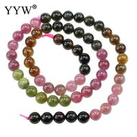 YYW High Quality 100% Tourmaline Beads Round natural October Birth stone Beads For Necklace bracelet Jewelry Marking