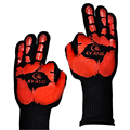 """TTLIFE Oven Mitts Gloves BBQ Grilling Cooking Gloves - 932F Extreme Heat Resistant Gloves 14"""" Long For Extra Forearm Protection"""