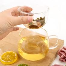 NICEYARD 350 мл Прочный термостойкий стеклянный чайный стаканчик ситечко для чая с заваркой и крышкой посуда для напитков