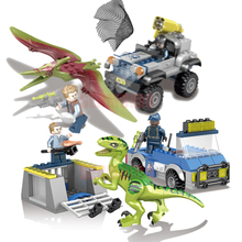 Jurassic Dinosaur world Figures Tyrannosaurs Rex Building Blocks Compatible With Legoings Jurassic Park Dinosaur Toys цена