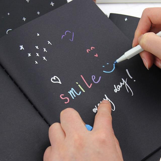 1 UNID Bloc de Notas Del Diario Del Cuaderno De Papel Negro 16 K 32 K 56 K Cuaderno de Dibujo Boceto de Graffiti Pintura Oficina escuela Papelería Regalos