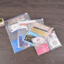 PVC Zipper Pocket File Folder Travel Journal Notebook Planner Accessories Card Holder Storage Pouch Bag A5/Regular/Passport