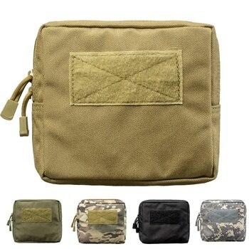 3be287e206d Bolso de caza táctico Molle bolsa cinturón Mini cintura bolsas militar  senderismo campamento Fanny Pack teléfono bolsillo ejército bolsa